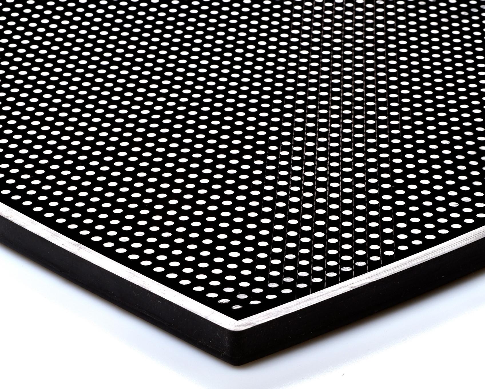 Bar mat black 30x45 cm